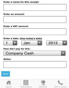 app receipt form